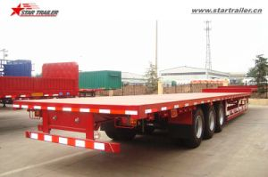 3axles Container Step Deck Trailer with Gooseneck pictures & photos