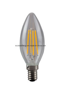 CE and Rhos 4W Filament Candle LED Lamp pictures & photos