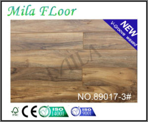 Best-Selling 8mm V-Groove Tiger Wood Laminate Flooring for Home (89017-3#)