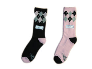 Women Fashion Color Dyeing Socks with Cotton (lf-1)