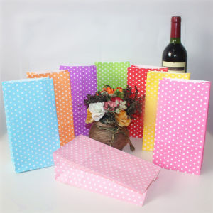 Eco-Friendly Striped Red Yellow Black Paper Bags for Party pictures & photos