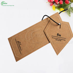 Custom Design Recycled Kraft Paper Hang Tags for Jeans (KG-PA044)