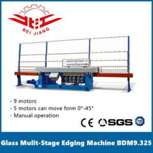 Glass Multi Stage Edging Machine 9 Motor 0-45 Degree Manual (BDM9.325) pictures & photos