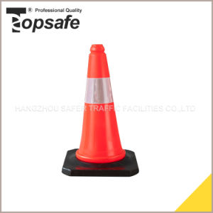 50cm Rubber Base LDPE Road Traffic Cone (S-1202L) pictures & photos