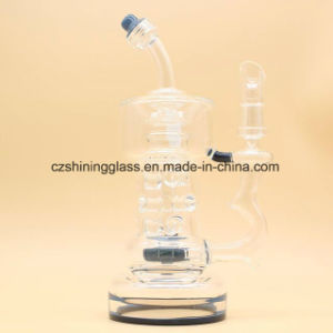 Cheaper Wholesale Colored Glass Water Pipe Oil Rig Recycler pictures & photos