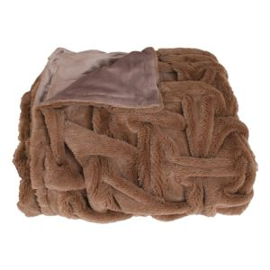 Super Soft Faux Fur Throw with Double Plush Blanket