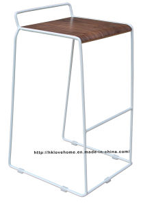 Modern Replica Steel Furniture Wooden White Bar Stools pictures & photos