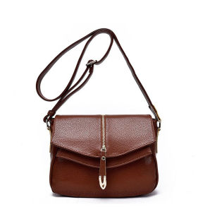 Fashionable Lady Fake Leather Handbag with Zip Pocket