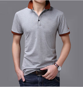 100 Cotton Single Jersey Short Sleeve Polo Clothing, Men Polo Shirts pictures & photos