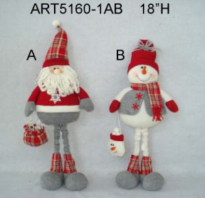 "16""H Standing Santa, Doll and Mouse, 3 Asst-Christmas Decoration Toy pictures & photos"