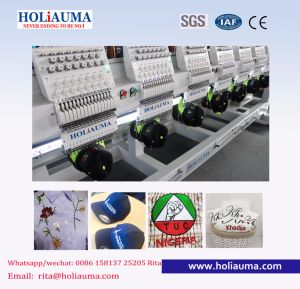 Holiauma Best Item 15 Colors 6 Head Commercial Embroidery Machine Computerized for High Speed Embroidery Machine Functions for Flat Embroidery Machine pictures & photos