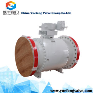 Stainless Steel API6d Flange Trunnion Ball Valve pictures & photos