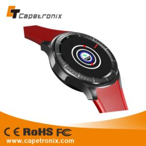 Rubber Silicone SIM Card GPS Tracker Smart Phone Watch with Speaker