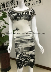 Simplicity Wash Painting Printing Dress for Women pictures & photos