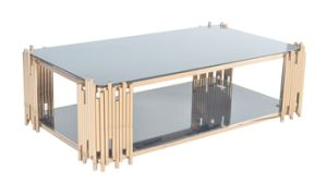 Stainless Steel +Tempered Glass Coffee&Console Table (GJ089)