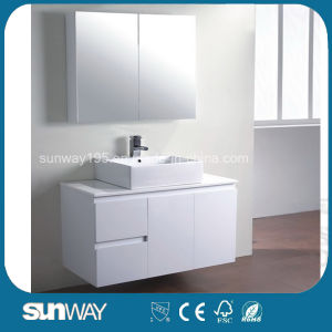 Australia Style Painting MDF Bathroom Vanity with Sink Sw-W750b pictures & photos