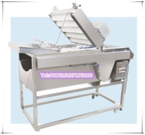 Double Layer Brush Vegetable Cleaning Machine
