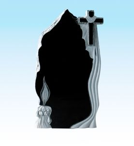 Black Russian Headstone Religious Monument