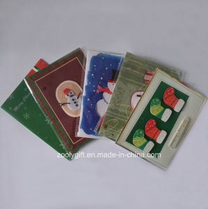 2D 3D Die-Cut Decorated Christmas Greeting Cards pictures & photos