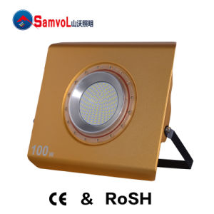 100W LED Flood Light with CE and RoHS Certification_Can Rotate in Four Directions