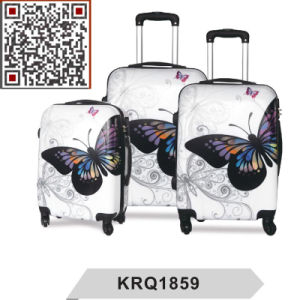 ABS PC Butterfly Printing Hard Case Trolley Luggage Suitcase pictures & photos