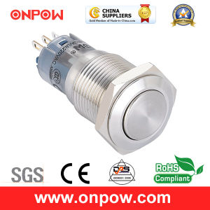 Onpow 16mm Metal Push Button Switch (LAS2GQF-11/S, CE, CCC, RoHS Compliant) pictures & photos