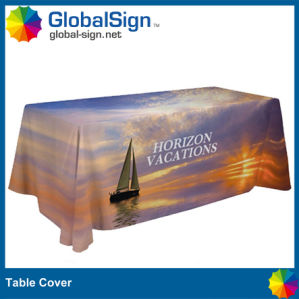 Customized Polyester Table Runner with Full Color Printed pictures & photos