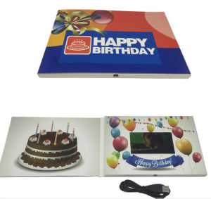 Happy Birthday LCD Brochure Video Greeting Card 4.3inch pictures & photos