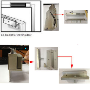 Electric Magnetic Lock with L Bracket (EM lock) pictures & photos