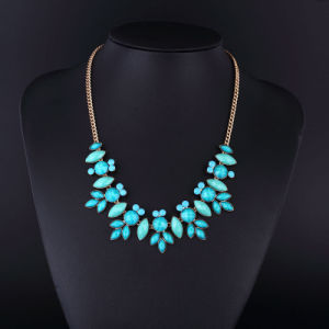 Gold Plating Turquoise Stone Necklace for Women pictures & photos