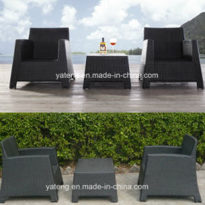 Stackable Outdoor Garden Coffee Chair with Aluminum Frame &PE-Rattan Woven Coffee Chair (YT236) pictures & photos