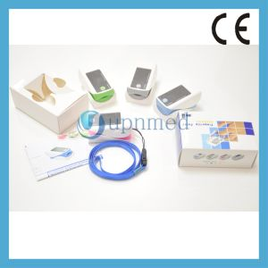 Upnmed New Fingertip Pulse Oximeter, Blue Color pictures & photos