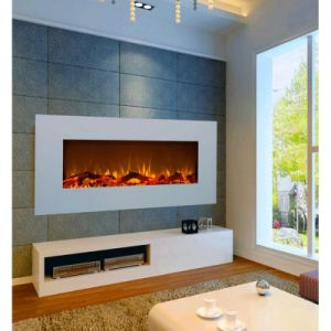 New Design Oem Service Quality Customized Hang On Wall Electric Fireplace Cold Rolled Steel Fireplace