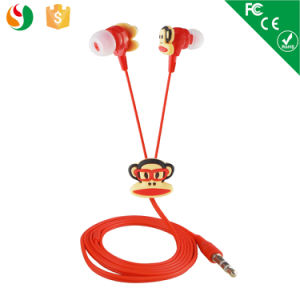 cute plastic animal earphones earpiece with monkey shape for kids