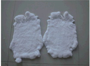 Genuine Rex Rabbit Fur Skin