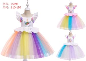deed6646a73 Wholesale Cheap High Quality Unicorn Long Evening Wear Baby Kids Girl  Children Party Dress