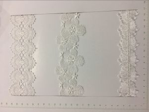 High Quality White Color Polyester Lace pictures & photos