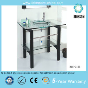 Tempered Glass Bathroom Vanity (BLS-2153) pictures & photos