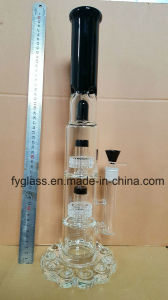 Glass Water Pipe with 25mm Heavy Bullet Glass Base pictures & photos