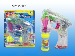 B/O Auto Bubble Gun with Light (MY35609)