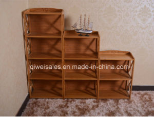 Bamboo Commodity Shelf Display Rack for Household Using