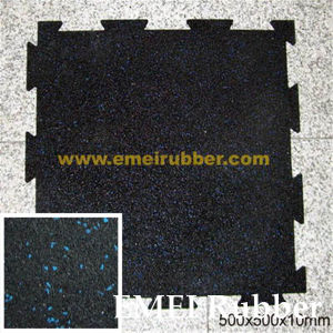 Black Interlocking Cushion Rubber Floor Rubber Mats Gym Play Garage Office Mat pictures & photos