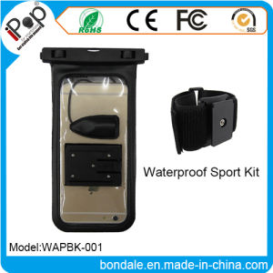 Sport Armband Kit Waterproof Pouch with Mobile Phone Earphone Jack and Inner Cable