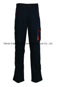 Navy Casual Long Pants T/C Comfortable Trousers with Reinforced Keen pictures & photos