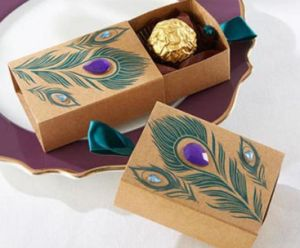 Brown Kraft Paper Chocolate Box with Rhinestone pictures & photos