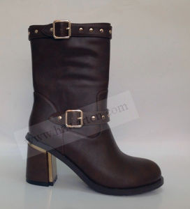 China Ladies PU Boots MID-Calf Boots - China Ladies Boots and Women Boots  price