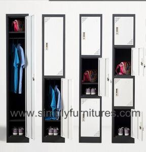 Steel 4 Doors Wardrobe Closet