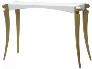 Post  Modern Style White Leather Console Table (FS106)