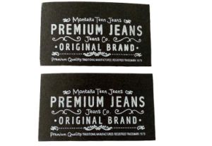 Wholesale Factory Direct Sale Fashion Emboss Logo Brown Custom Jeans Leather Label, Leather Patch