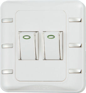 Ee-Hm-K02 Factory Hot Sale 2 Gang 1 Way Wall Switch pictures & photos